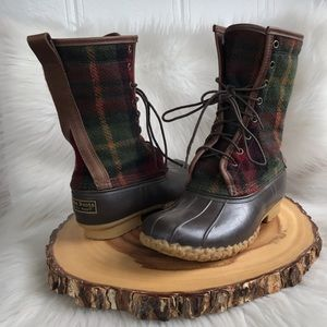 L. L. Bean wool / leather boots USA made